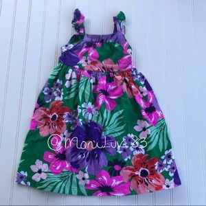 NWT Crazy 8 tropical floral summer dress 2T